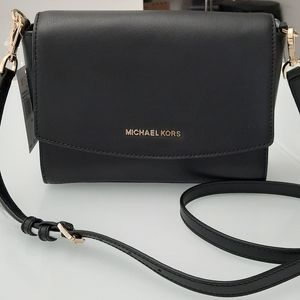 Michael Kors Ellis Md Flap Leather Messenger bag